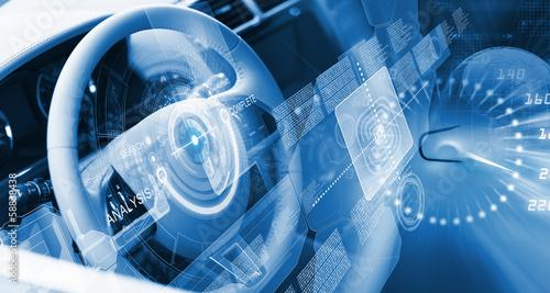 Leinwanddruck Bild Steering wheel