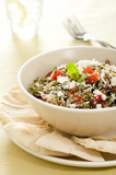 tabbouleh with feta cheese.