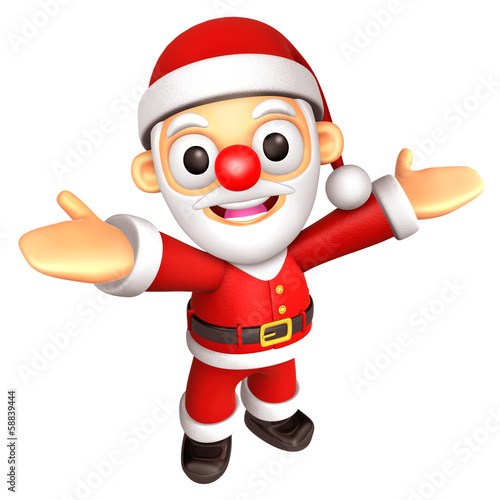 3D Santa mascot has been welcomed with both hands