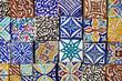 Set mit marokkanischen Fliesen