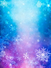 Purple Blue Snow