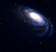 Spiral galaxy in deep space.