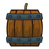 barrels with gunpowder isolated illustration poster