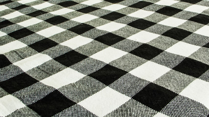 Black and white scott fabric