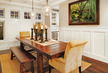 Dining Room in New Luxury Home