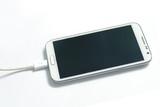 charging white mobile device