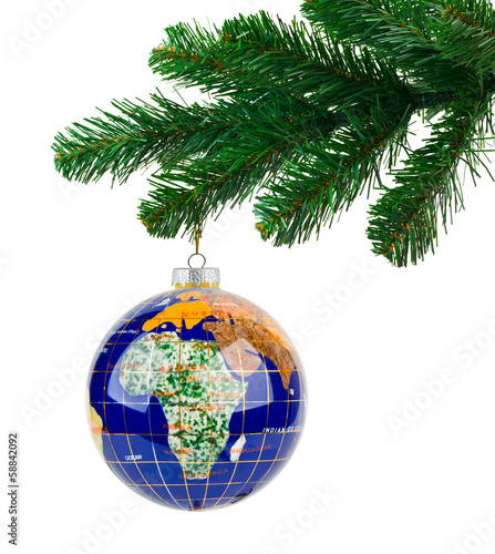Globe and christmas tree