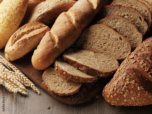 canvas print picture fresh bread