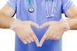 Finger doctor heart.