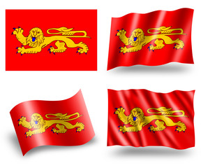 Flag of Aquitaine Region