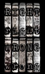Right and wrong concept
