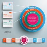 Colored Ring in Rings Infographic Rectangles