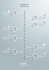 White Circles Timeline Infographic