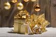 golden christmas gifts lights