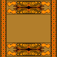african background with pattern and symbol