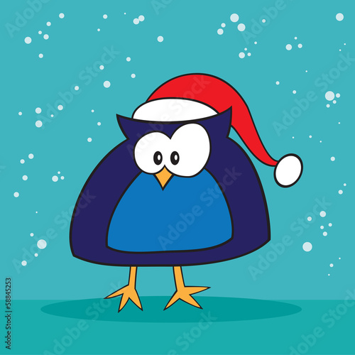 Christmas holiday silly owl