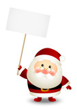 Funny Santa with empty paper card