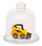 Toy loader in a glass dome
