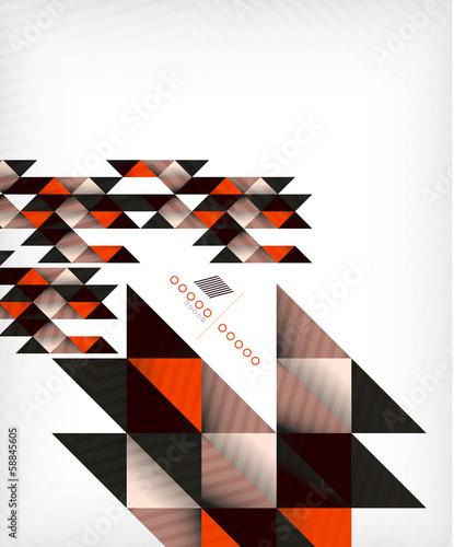Colorful geometric shape triangle background