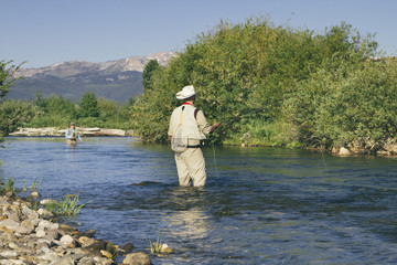 Fly Fishing in the river