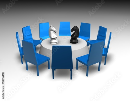 negotiation, business meeting concept illustration