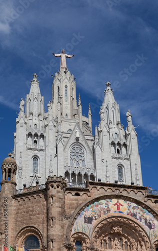 Temple del Sagrat Cor (Church of Sacred Heart). Barcelona. Spain