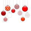 Hanging Christmas Balls Pattern Red