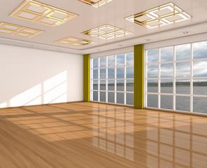 The big modern empty room