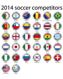 2014 soccer competitors poster