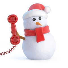 Answer the phone Santa snowman!