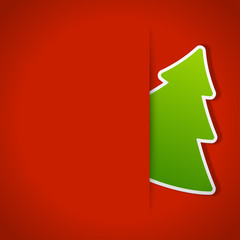 Christmas tree background. Vector illustration