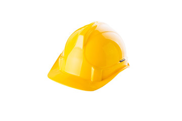 Safety helmet on white background