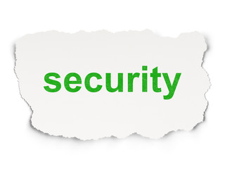 Security concept: Security on Paper background