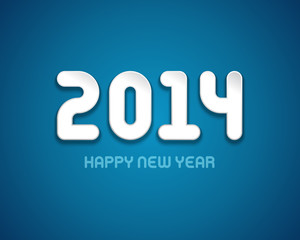 Happy new year 2014 design vector background