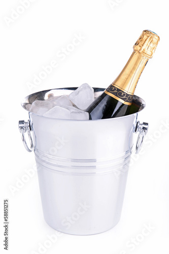 champagne bottle in bucket