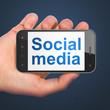 Social network concept: Social Media on smartphone