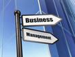Finance concept: sign Business Management on Building background