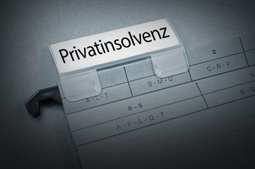 Ordner mit Privatinsolvenz