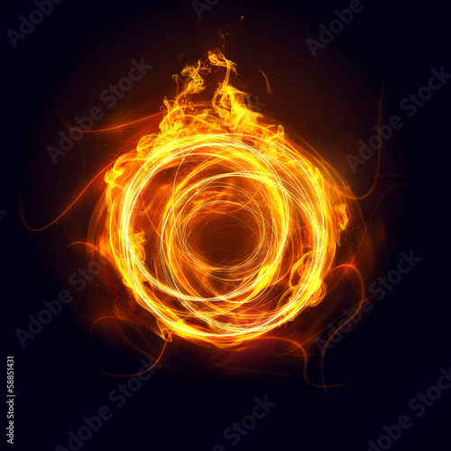 Leinwandbild Motiv Abstract Ring of Fire