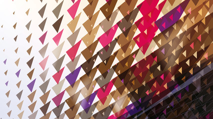 abstract triangular dynamic composition for sport advertising
