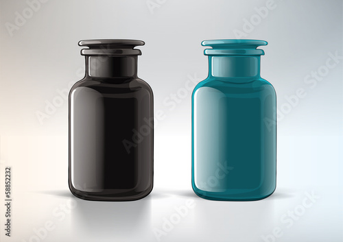 Jar from glass with cover. For new design