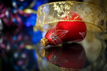 Christmas decorations colored