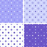 Geometrical decorative floral and polka dots patterns.
