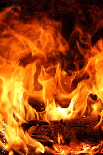 In de dag Vuur / Vlam offenes Feuer