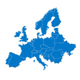 Mapa Europy - 58854228