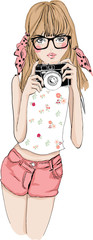 girl with camera 2
