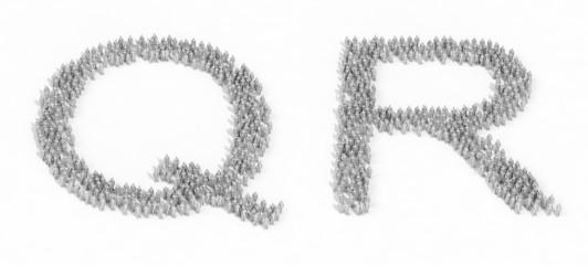 Human crowd alphabet