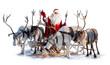 Santa Claus and his deer