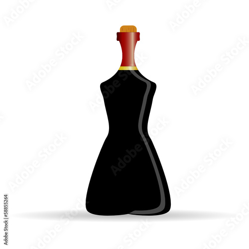 bottle of alcohol art vector illustration