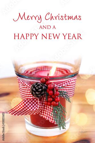 merry christmas happy new year windlicht